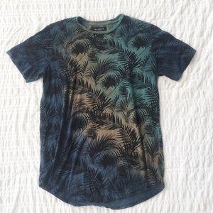 Pacsun Multicolor Palm Print Graphic Tee Men's M